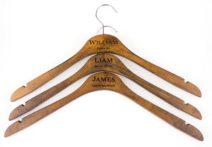 Groomsman Hanger - Dark Wood