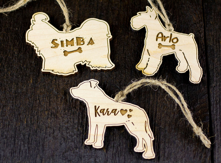 Personalized Dog Ornament