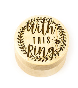 Wood Ring Box - This Ring Design