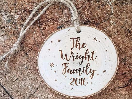 Family Engraved Tree Ornament