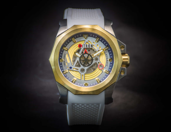 Nitron Circuit Yellow Gold / Stainless Steel