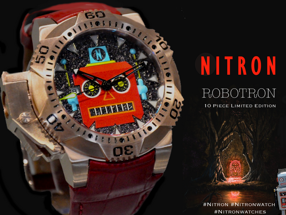 Robotron/ Red and Rose Gold