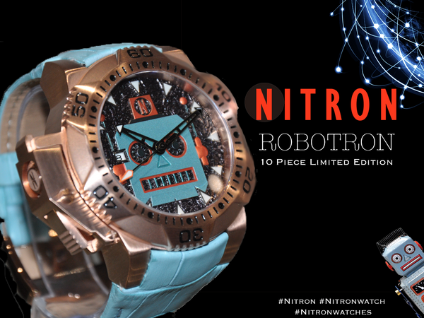 Robotron/ Pale Blue and Rose Gold