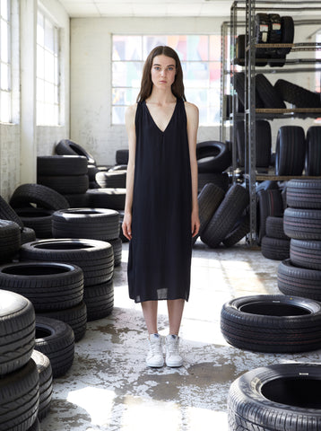 Sustainable fashion everyday basic singlet tank dress made in Melbourne by Midnight The Label. Ethical clothing.