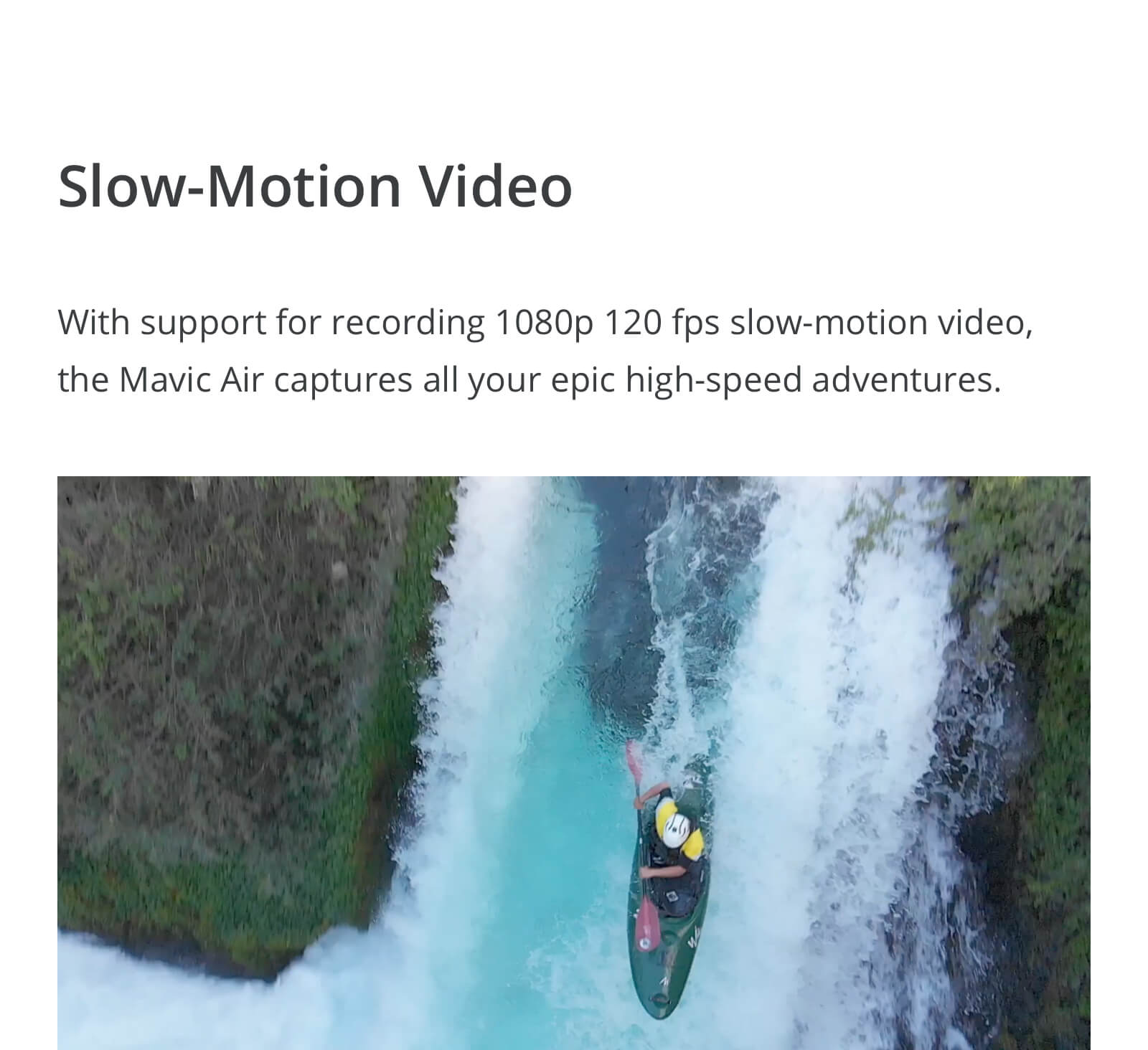 Slow-Motion Video on the DJI Mavic Air