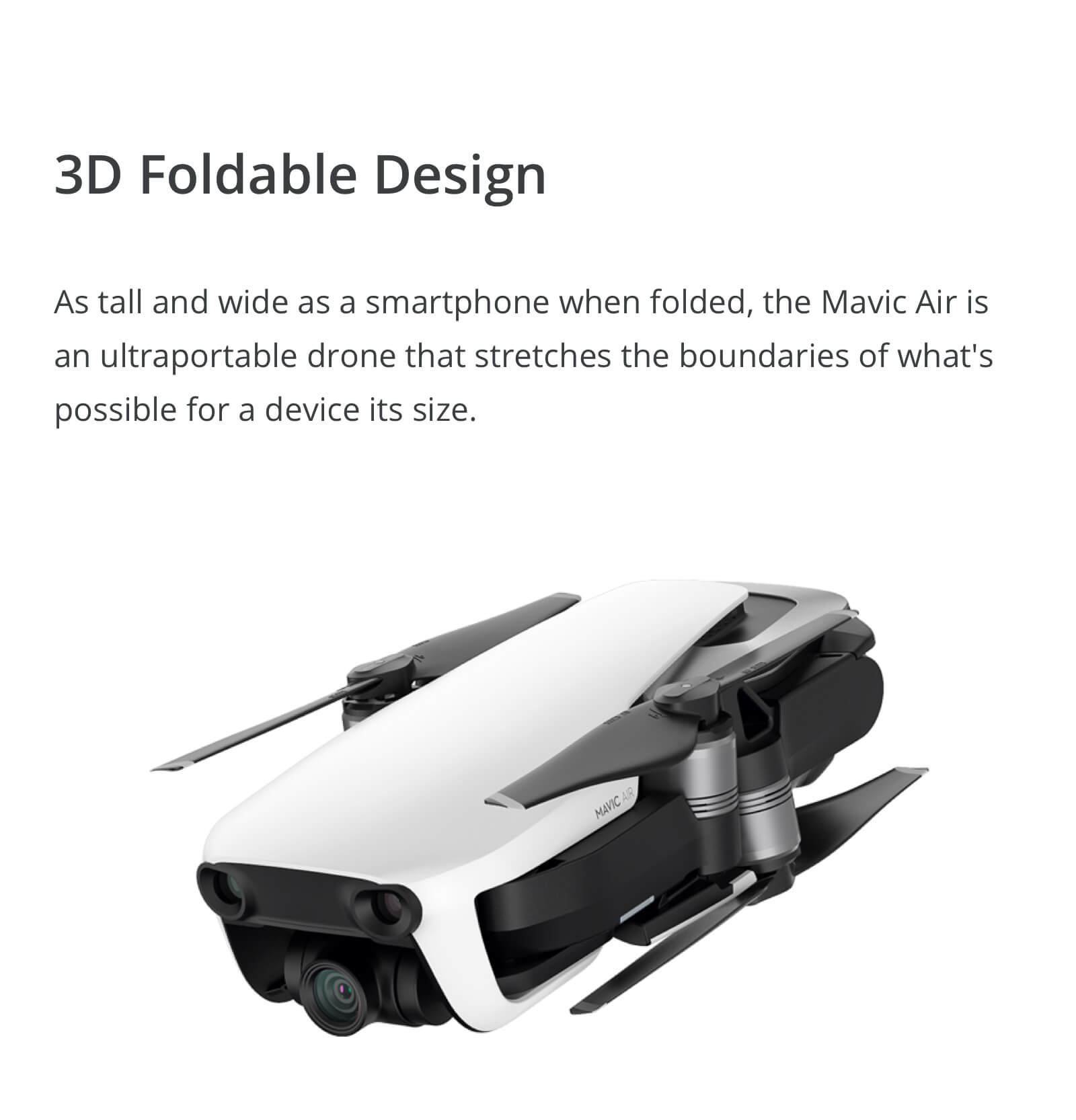 The DJI Mavic Air Foldable Design