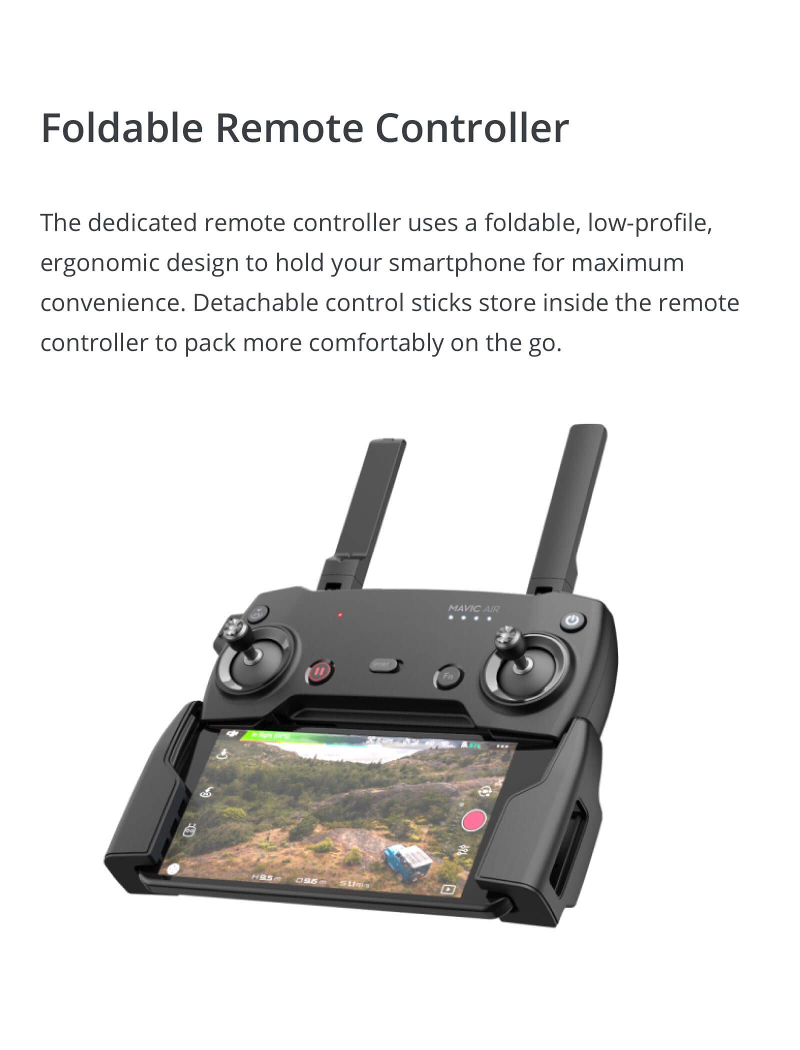 The DJI Mavic Air Foldable Controller