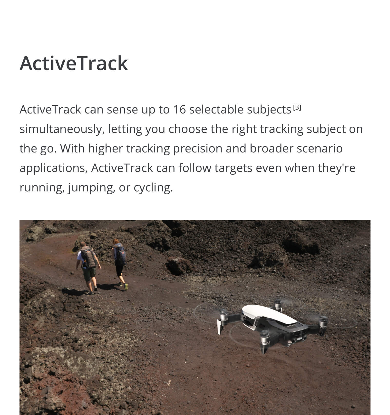 Active Track follow me mode for the DJI Mavic Air