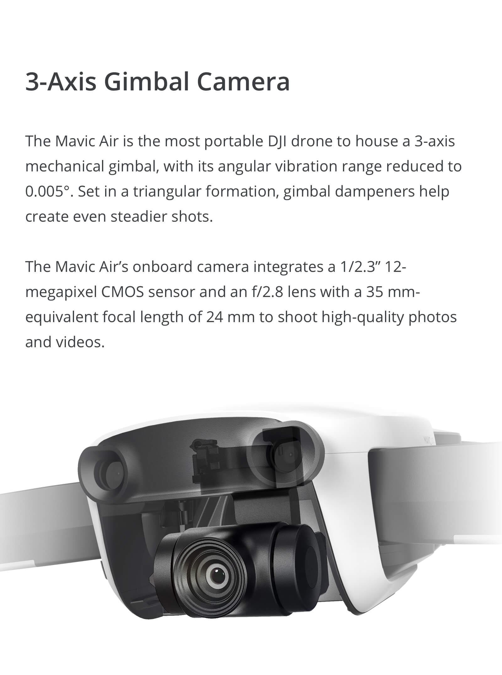 The DJI Mavic Air 3-Axis Gimbal
