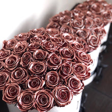 Preserved Rose Gold Box - Luxe Blooms