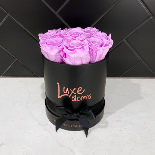Preserved Lilac Rose Box - Luxe Blooms