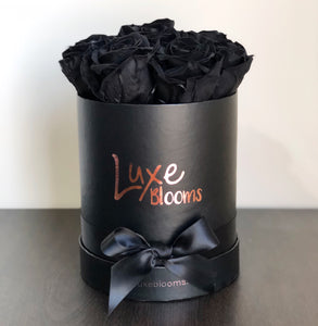 Preserved Black Rose Box - Luxe Blooms
