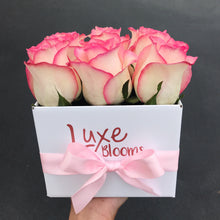 Square Pink Rose Box - Luxe Blooms