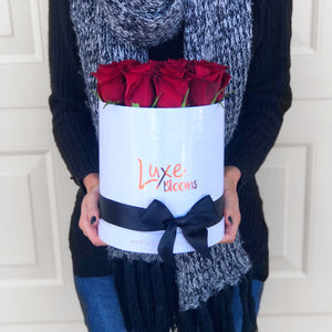 LUXE Fresh Red Rose Box - Luxe Blooms