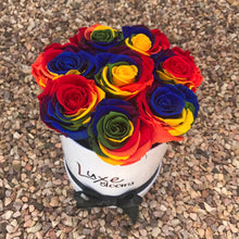 Preserved Rainbow Rose Box - Luxe Blooms