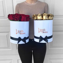 LUXE Fresh Gold Rose Box - Luxe Blooms