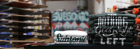 Subsonic Skateboards t-shirts and jackets