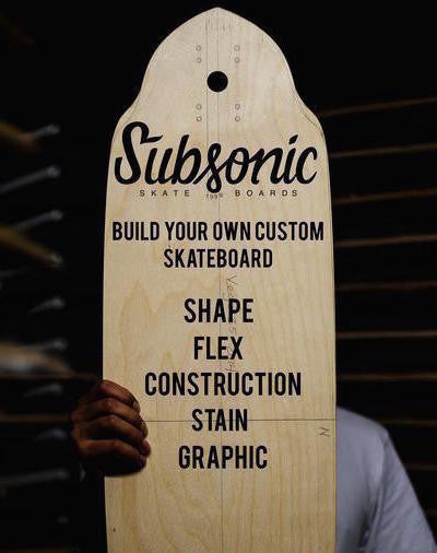 Subsonic Skateboards Custom Board Builder