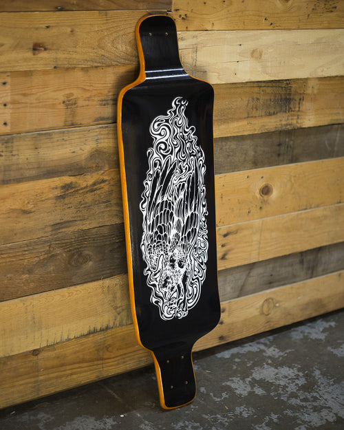 SOLD // Orange Talon 37 Blackout Longboard Deck