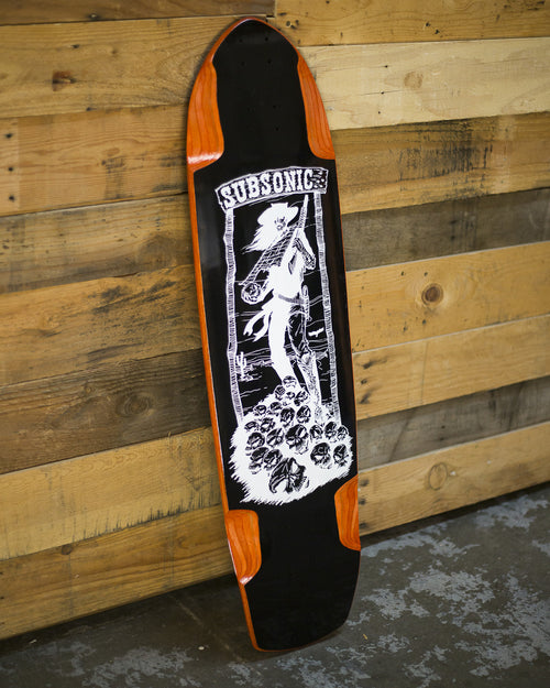 SOLD // Orange Shadow 37 Blackout Longboard Deck