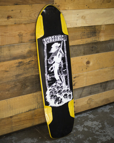 Yellow Shadow 37 Blackout Longboard Deck