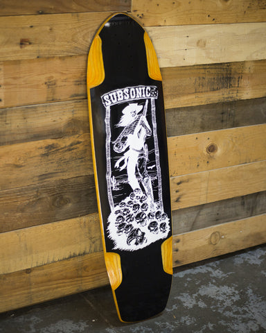 Wheat Shadow 37 Blackout Longboard Deck