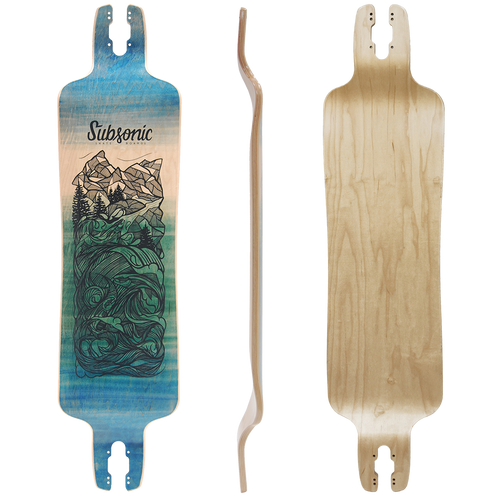 Subsonic Skateboards GT40 longboard bottom profile top
