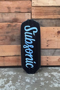 Subsonic Skateboards Illuminati longboard deck bottom