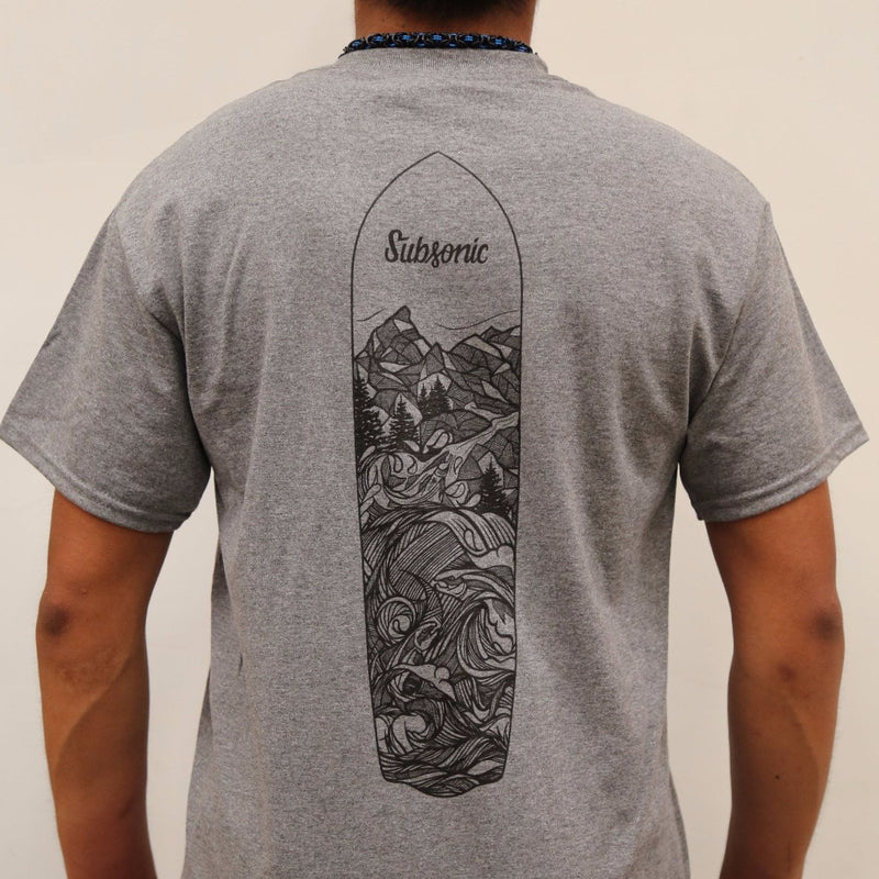 Subsonic Skateboards Mountains-to-Sound Graphic T-shirt - Gray