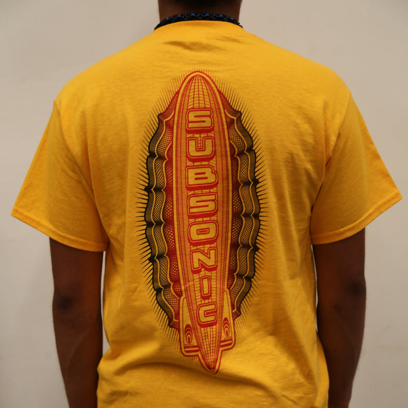Subsonic Skateboards Zeppelin Graphic T-shirt - Gold