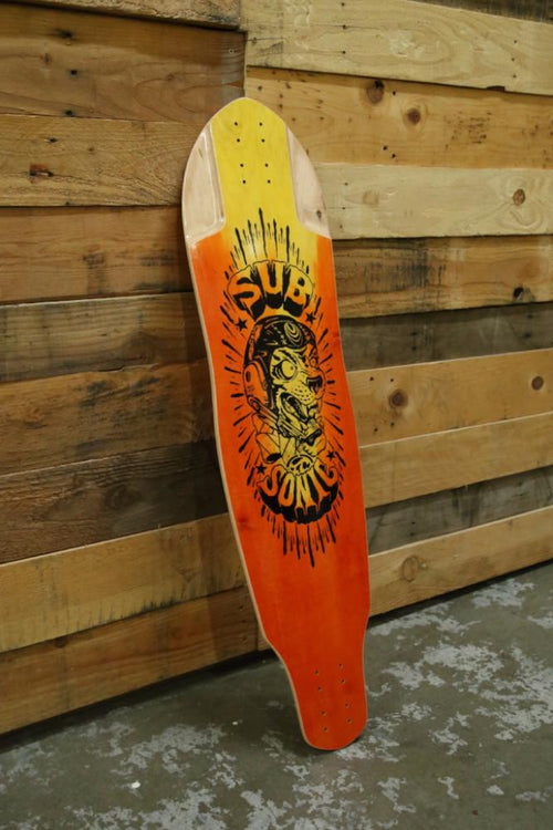 Subsonic Skateboard Pulse longboard deck bottom