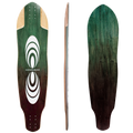 Subsonic Skateboards Pulse longboard bottom profile top