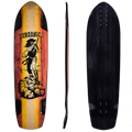 Subsonic Skateboards Shadow 37 longboard base/profile/top
