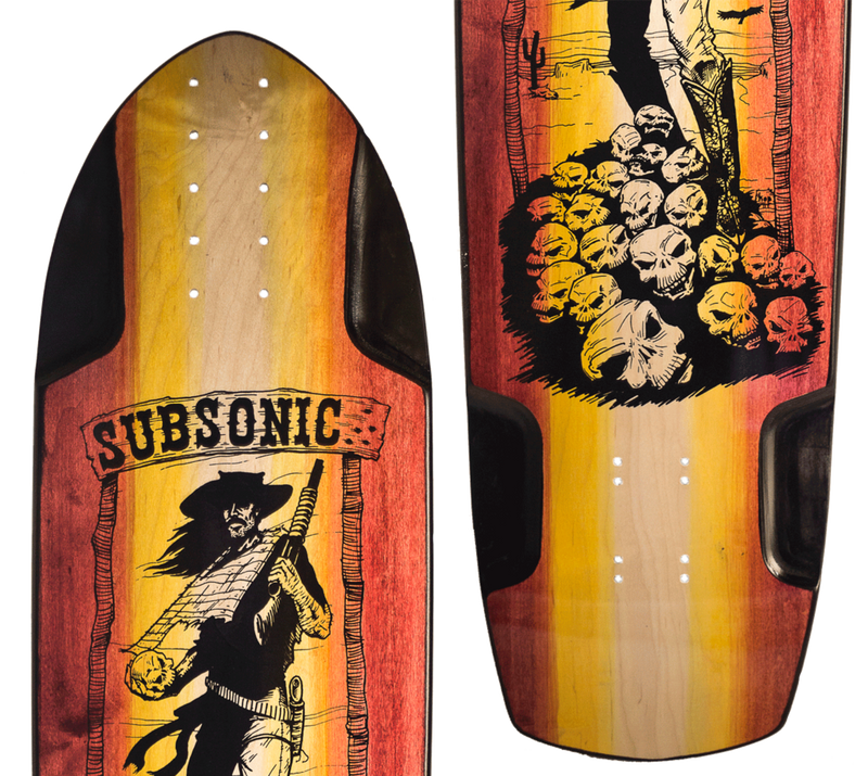 Subsonic Skateboards Shadow longboard close-up