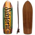 Subsonic Skateboards Spirit longboard bottom profile top