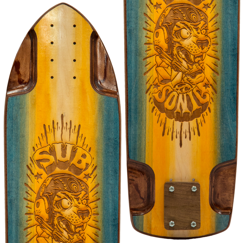 Subsonic Skateboards Spirit 30 Slalom close-up