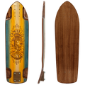 Subsonic Skateboards Spirit 30 Slalom longboard bottom profile top