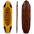 Subsonic Skateboards Vega longboard bottom profile top