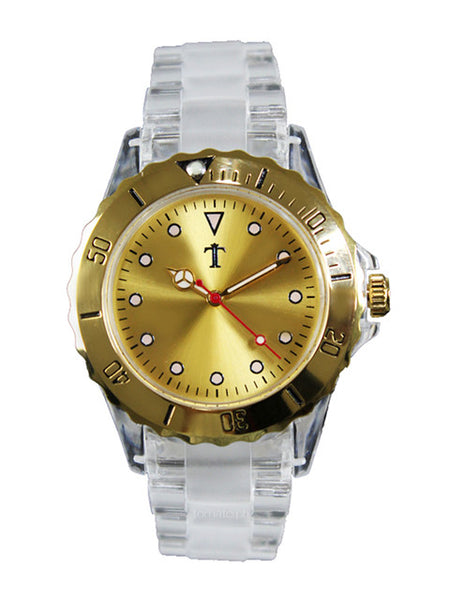 Lucite Watch in Gold