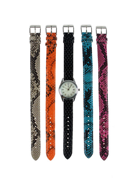 The Lustrous 5 pc. Interchangeable Strap Watch