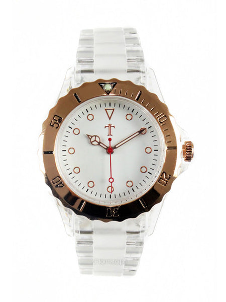 Lucite Watch in White