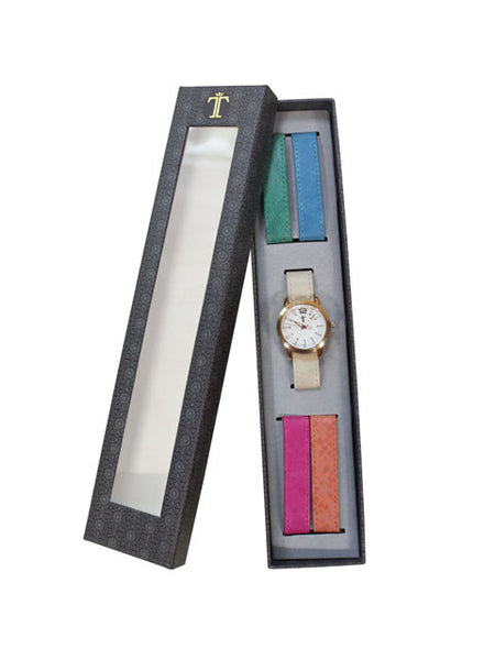 The Color Craze 5 pc. Interchangeable Strap Watch