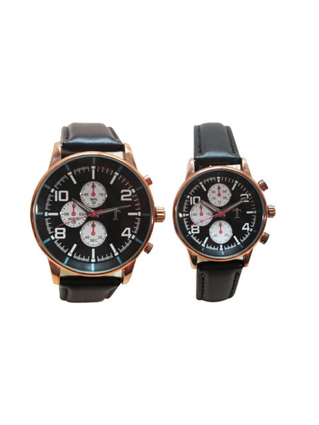 HIS & HERS watch set in Black