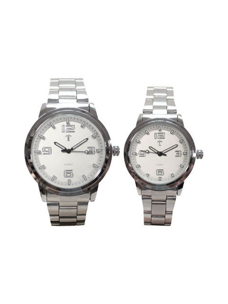 HIS & HERS watch set in Silver