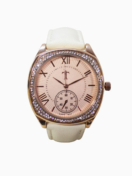 Leather Watch for Women in White