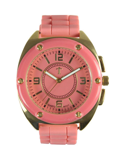 Takumi Watch in Coral