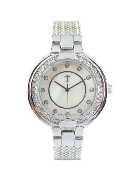 Azalea Watch in Silver
