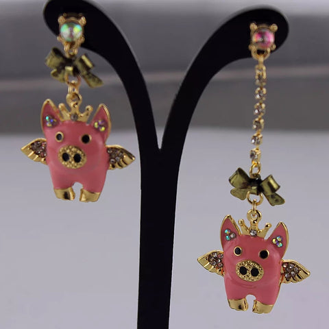 Pink Accent Chandelier  Earrings