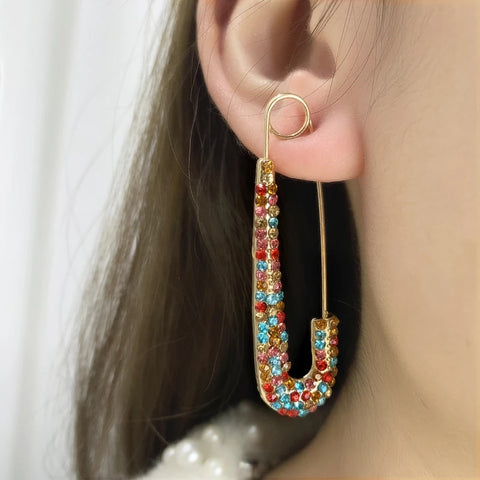 Parrot Rhinestone Earrings