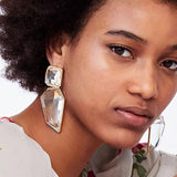 Geometric Clear Chunky Earrings